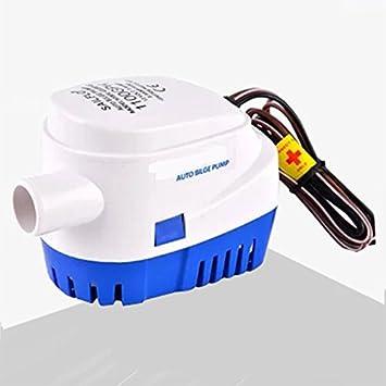 Konesky Bombas de Agua de sentina de Barco Bombas de Interruptor de Flotador sumergibles automáticas para Camping de caravanas Fuentes de Piscina de Barco ...