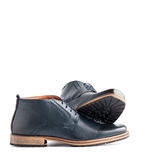 Travelin London Leather Chukka Boots | Schnürhalbschuhe Herren | Freizeitschuhe Hochzeitschuhe | Business Schuhe Anzugschuhe | Lederschuhe in Blau 47 EU