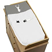 Sweet Jojo Designs Grey and White Deer Changing Pad Cover for Woodsy Collection by