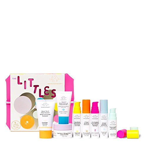 Drunk Elephant New Littles Kit. Mini Skin Care Bundle w/Bag (Facial Cleanser, SPF 30 Sunscreen, 3 Serums, Facial Oil, Hydration Gel, and Moisturizer).