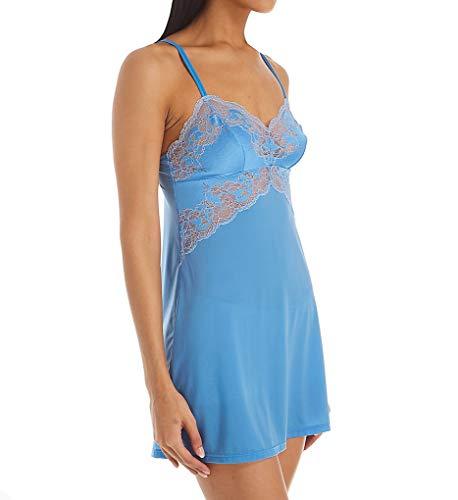 Wacoal Women's Lace Affair Chemise, Lichen Blue/Cashmere Blue, Small