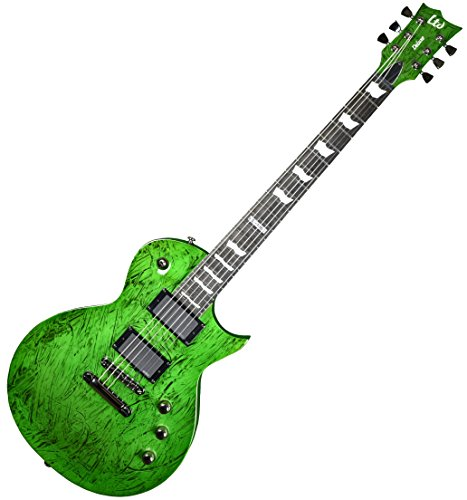 ESP LTD Deluxe EC-1000 Electric Guitar in Swirl Green Finish