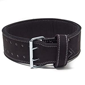 Double Prong Powerlifting Belt -10mm Weight Lifting (X-Large)