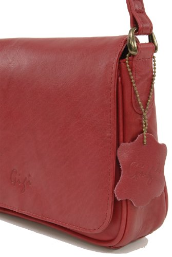 Gigi 14578 Flapover Bag Small Red Organiser Othello Leather zSzqr