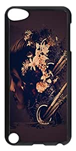 Abstract Grunge Flower Head PC Case Cover for iPod Touch 5 Transparent