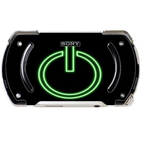 Price comparison product image Neon Green On Button Black Background PSP Go Vinyl Decal Sticker Skin by Moonlight Printing