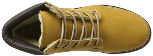 Chukka Amarillo 72 Boot Mustard Warm para Worker Bianco Botas Mujer ZzI4Uxn