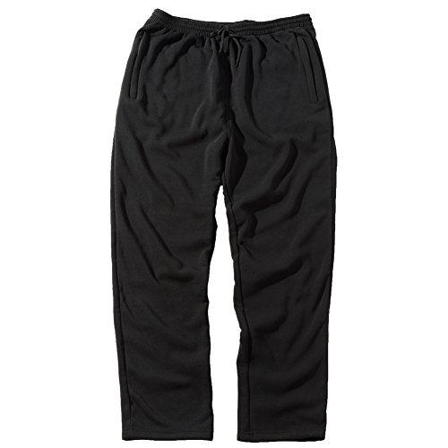 Big And Tall Zipper - Greatrees Men's Cotton Big & Tall Fleece Sweatpants Black 2XL Regular