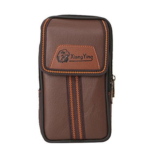 Simple Universal Flip Phones Holster Case Wallet Card Waist Bag Pouch Belt Clip Wallet