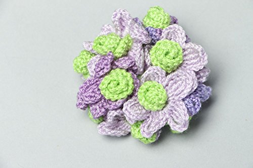 Crochet Flower Brooch - 3