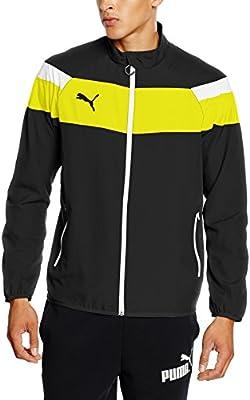 Puma para Hombre Chaqueta Spirit II Woven Jacket, Black-Cyber Yellow, M, 654661 37: Amazon.es: Deportes y aire libre