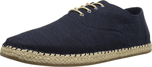 TOMS Men's Camino Lace-Up Navy Slubby Linen Oxford