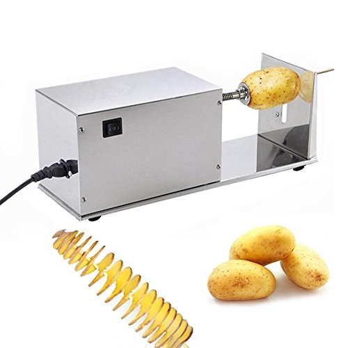 - Zz Pro Potato Slicer Food Grade Stainless Steel 10W Electric Potato Tornado Slicer Automatic Cutter Machine Spiral Potato Cutter Twister Spiral Zucchini (Automatic)