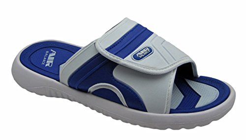 Slippers in Comfortable Sandal Men Beach Classy Adjustable R Colors for Air Shower Strap White blue wnqRgWYp