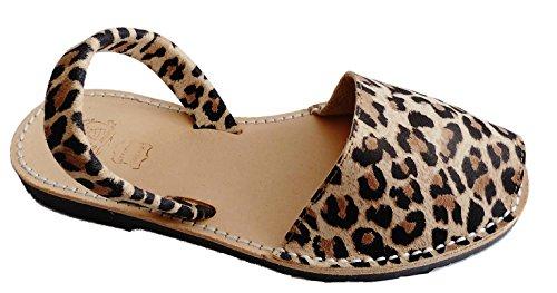 Authentic Menorcan sandals, various colors, Avarcas Menorquínas abarcas, albarcas. Leopardo claro