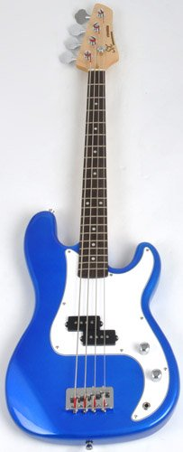Ursa 1 JR RN PK EB Blue Bass Guitar Package w/Free Carry Bag, Amp Instructional On Line Video by SX (Image #2)
