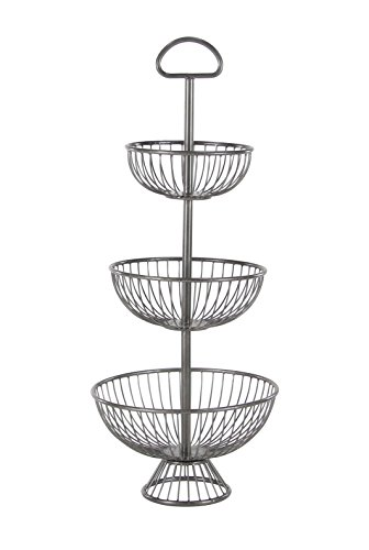 Deco 79 36726 36726 Basket Stand, Black by Deco 79