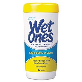 Wet Ones 4672 Hand Wipe Canister with Citrus Scent (Case of 12)