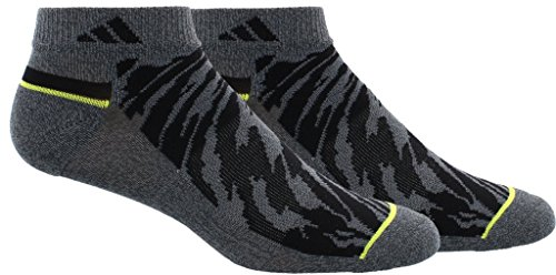 adidas Mens Superlite Prime Mesh Low Cut Socks (2-Pack), Yellow/Black, Size 6-12