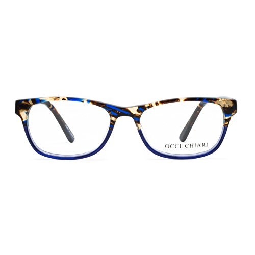 OCCI CHIARI Rectangle Stylish Eyewear Frame Non-prescription Eyeglasses With Clear Lenses Gifts for - Fashion Prescription Eyeglasses Non