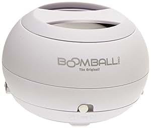 Boomball Pro - Mini- altavoz (86dB) para teléfonos móviles y reproductores de MP3, color blanco