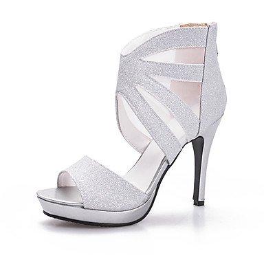 LvYuan Mujer-Tacón Stiletto-Otro-Sandalias-Boda Vestido Fiesta y Noche-Purpurina-Negro Plata Oro Silver