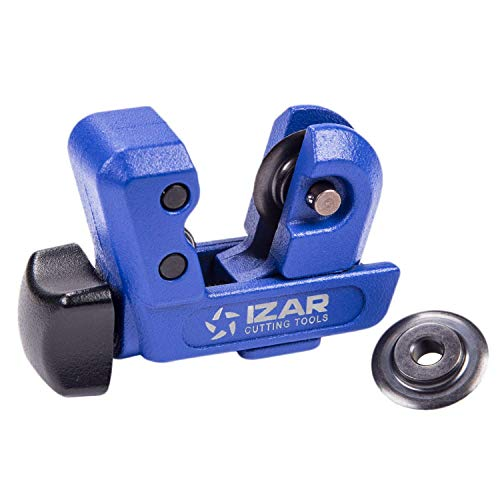 IZAR Pipe & Tubing Cutter 1/8-inch to 1-inch OD Close Quarters Professional, Spare Blade Included