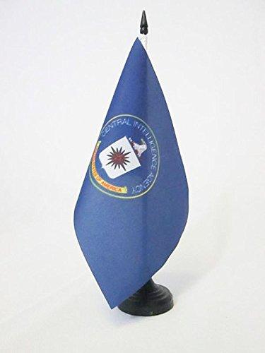 BANDIERA DA TAVOLO CENTRAL INTELLIGENCE AGENCY DEGLI STATI UNITI 21x14cm - PICCOLA BANDIERINA CIA DEGLI USA 14 x 21 cm - AZ FLAG