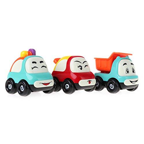 JAGENIE新しい慣性漫画の表現の車の玩具ミニトラックの子供の赤ちゃんのおもちゃGiftChristmas新年の贈り物、1 PC、ランダム配信の商品画像