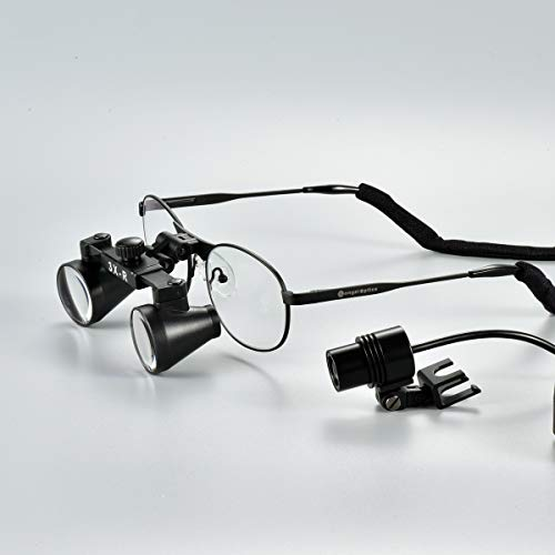 Songzi Optics (2.5X 3X 3.5X Optional) Titanium Frame Binocular Medical Dental Surgical Loupes with SZ-M06B Led Spot Headlight (Working Distance :(360-460 mm) R, Magnification:3X) by Songzi Optics (Image #2)