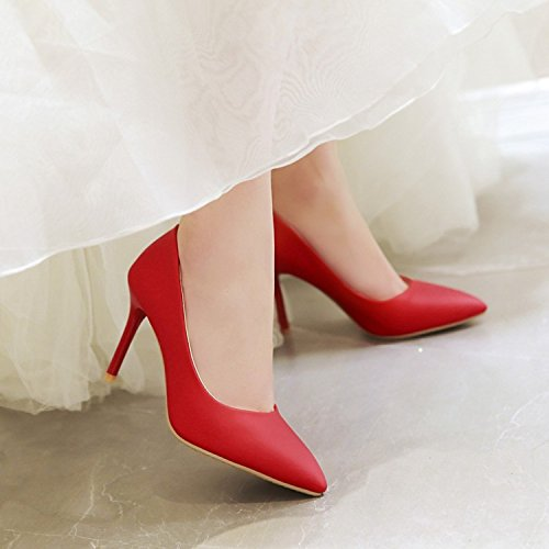 Pointu Unie Aisun Classique Couleur Bout Rouge Femme Escarpins 8qqZw1xtn