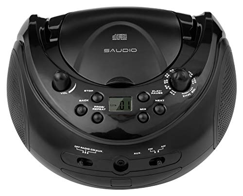 sAudio Portable CD Boombox, CD Player with AM FM Radio and Line-in Jack (Best Cd Radio Boombox)