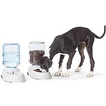AmazonBasics Gravity Pet Feeder and Waterer Bundle, Large