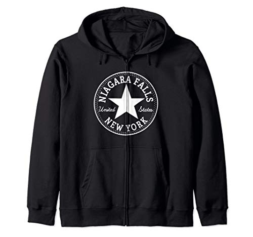 - NIAGARA FALLS NEW YORK USA CITY Holiday Sightseeing Outfit Zip Hoodie