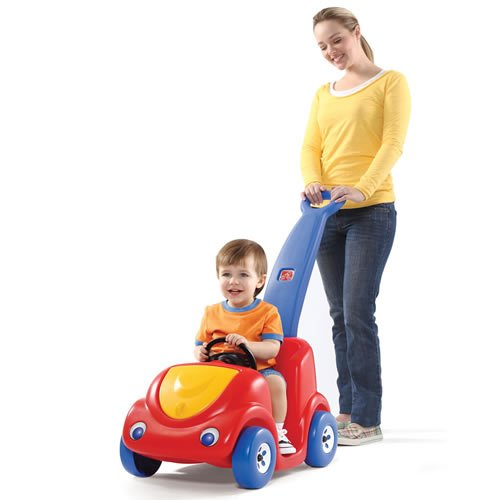 Step2 Push Around Buggy Toddler Pushing Car – Durable and Safe Outdoor Wagon Cart for Kids – Red