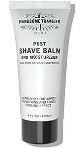 Post Shave Balm for Men Lotion and Moisturizer Post After shave 4 oz. Calms Skin Eliminates Razor Burn and Irritation by Handsome Traveler