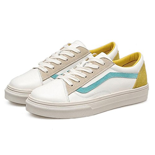 Spring Casual Green Shoes Outdoor Sports GAOLIXIA Comfortable Women's Shoes Yellow Shoes Leather XBwIEqa