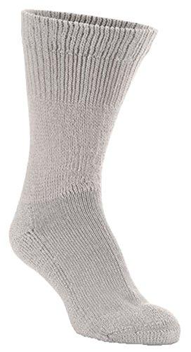 World's Softest Sock Men's / Women's Sensitive Feet Wide Fit Crew Socks , Stone , Women's 9-12/Men's 8.5-12 by World's Softest