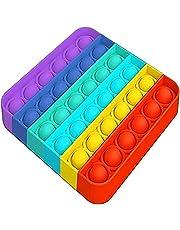 AHEYE Push pop pop Bubble Sensory Fidget Toy-Autism Special Needs Stress Reliever Silicone Stress Reliever Toy-Squeeze Sensory Toy (Square Colorful)