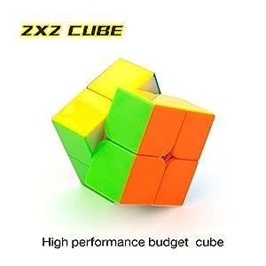 CuberSpeed Speedcubing Bundle Moyu MoFang JiaoShi MF2S 2X2 & MF3S 3X3 & MF4S 4X4 & MF5 5X5 Stickerless Bright Magic cube Cubing Classroom Stickerless speed cube set with Gift Packing