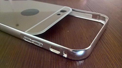 CELL SHIELD Mirror Case (Silber) Spiegelhülle für iPhone 6/6s Schutzhülle Hülle Cover Case Aluminiumrahmen verspiegelt - Stark reduziert! Produkteinführungsrabatt!