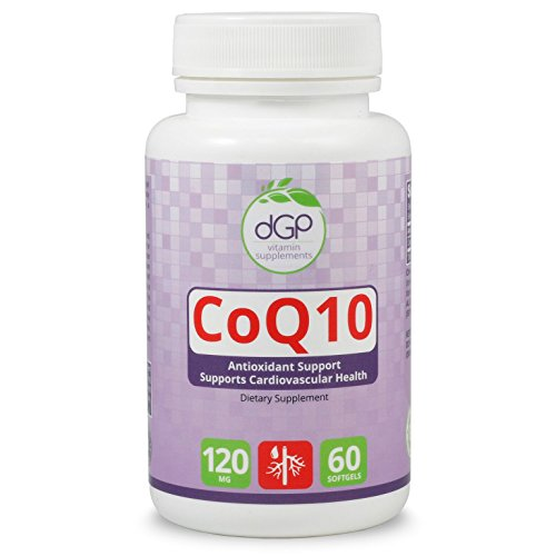 CoQ10, Anti-Oxidant, supplement, energy boost, cell energy, GMP Certified, GMO Free, Made in the USA, 60 Capsules, 120 mgs,