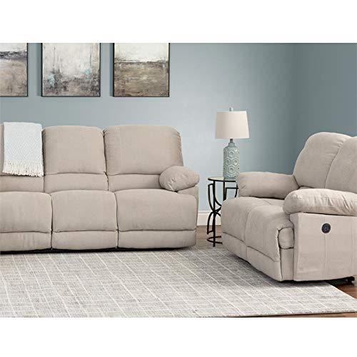 (CorLiving LZY-362-Z2 Lea Collection Reclining Sofa Set, Beige)