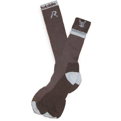 R.U.Outside Bill Townsend Chinook Winter Sock, Brown with Grey Logo, X-Large, 0.5 Ounce by (Chinook Winter Socks)