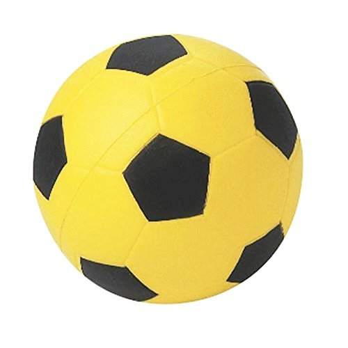Ball Design Foam (Donal High Density Foam Soccer Ball, Black and Yellow)