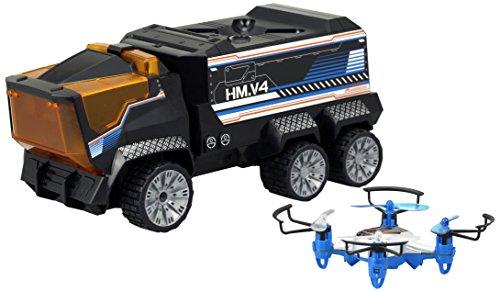 "Silverlit Drone Mission RC Truck, Black, 10"" x 5"""