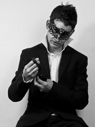 Black Lion/Lionesse Laser Cut Venetian Masquerade Mask with Rhinestones Event Party Ball Mardi Gars ()