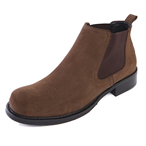Die britischen männer lederschuhe stiefel lederstiefel hohe stiefel für chelsea Geschäft kleid,khaki.,40