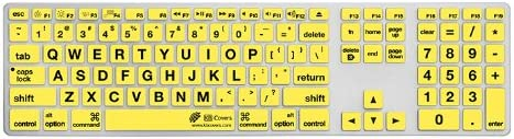 LT-AK-CY Clear with Black Buttons KB Covers Large Type Keyboard Cover for Apple Ultra-Thin with Num Pad