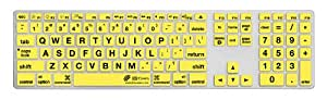 KB Covers Large Type Keyboard Cover for Apple Ultra-Thin with Num Pad - Clear with Black Buttons (LT-AK-CY)